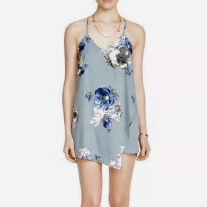 Free People Floral Mini Dress XS Wrap Cascade